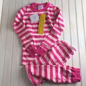 NWT Hanna Andersson Girls Striped PJ